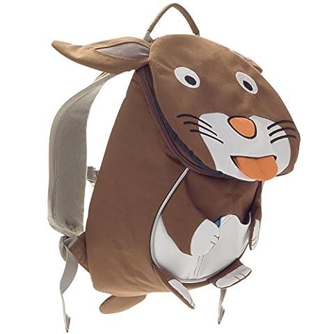 Affenzahn Kinderrucksack mit Brustgurt für 1-3 jährige Jungen und Mädchen im Kindergarten oder Kita der kleine Freund Anette Hase - braun, weiß