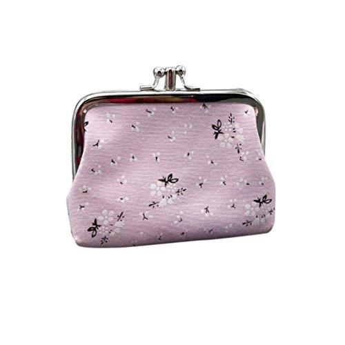 YULAND Handtasche Schultertasche Brusttasche, Frauen Mädchen Cartoon Snacks Geldbörse Brieftasche Tasche Ändern Pouch Schlüsselhalter (Rosa)