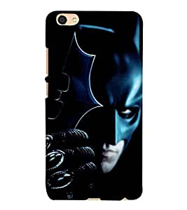 For Vivo Y55 :: Vivo Y55L :: Vivo Y55s black shield suit, man in mask, mask, icon, black background Designer Printed High Quality Smooth Matte Protective Mobile Pouch Back Case Cover by BUZZWORLD
