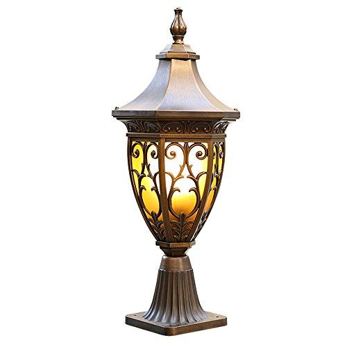 Antiker Kaffee Gold American Retro Outdoor Decor Lichter für Landschaft Garten Villa Tür Säule...