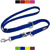 DDOXX Correa Perro Multiposición Nylon, Ajustable en 3 tamaños, 2 m | Diferentes Colores & Tamaños | para Perros Pequeño, Mediano y Grande | Correa Accesorios Doble 2 Gato Cachorro | S, Azul, 2m