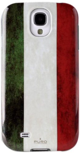 Puro SGS4ITA1 Cover Samsung Galaxy S4 Flag in Materiale Anti-shock Bandiera Italia
