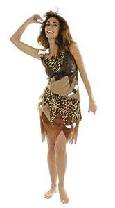 César - Disfraz de cavernícola para mujer, talla 40 cm (D052-006)