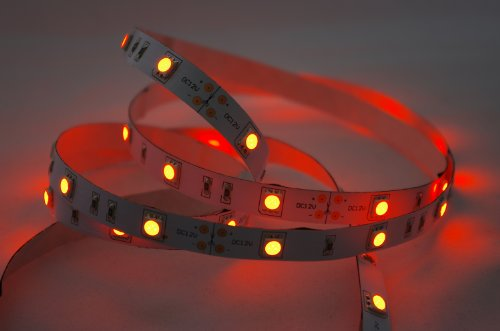 2 Meter oranges LED Strip Stripe Streifen Leiste Band (2m, orange, IP20) - Anschlussbuchse für Hohlstecker