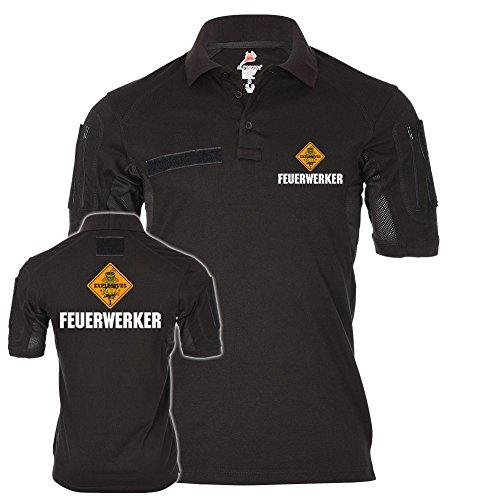 Tactical Polo Feuerwerker Explosiv Logo Kampfmittelräumdienst #22480, Größe:S, Farbe:Schwarz - Logo Schwarz Army Navy T-shirt