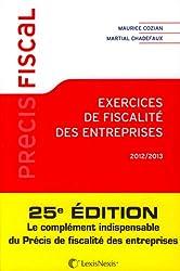 Exercice de fiscalité des entreprises 2012/2013
