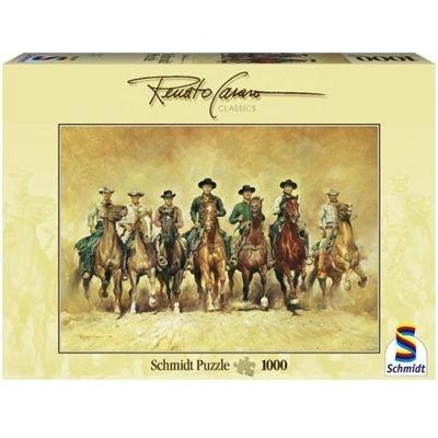 Preisvergleich Produktbild Schmidt Spiele 57543 - Renato Casaro, Die glorreichen Sieben, 1000 Teile Puzzle
