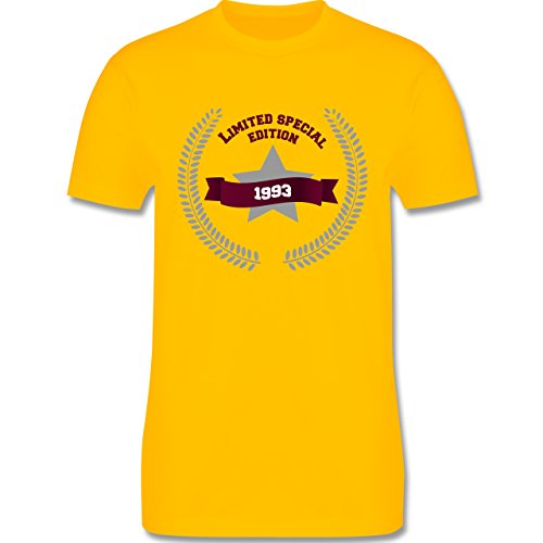 Geburtstag - 1993 Limited Special Edition - Herren Premium T-Shirt Gelb