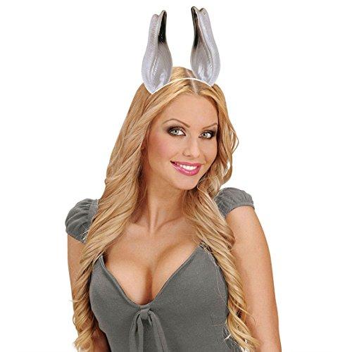 Haarreif Esel Ohren Tierohren Haarreifen Maultier Riesenohren Donkey Kopfbügel Tierkostüm Zubehör Kostüm Accessoire ()