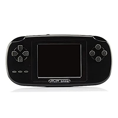 """Rongyuxuan Game Handheld Console, Game Console 2.8""""LCD PVP PLUS Game Player Classic Handheld Game Console 168 games in 1 USB Charge Birthday for Children"""