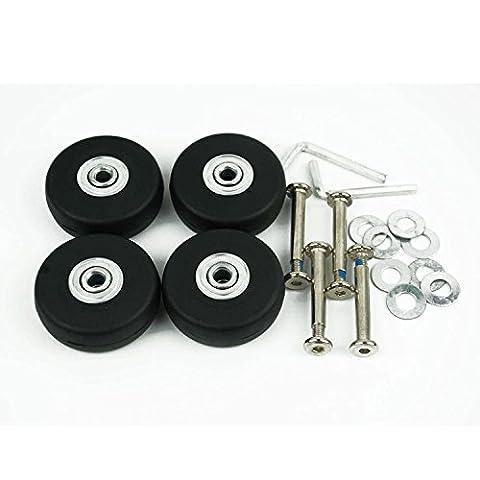loinstar 4pièces bagages Valise roulettes de rechange Diamètre extérieur 50mm x 18mm x 6mm essieux 35Set de réparation
