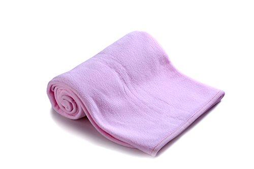 Ambrosya® | Kuschelweiche Decke für Babys aus Fleece | Baby Babydecke Babystrampler Bett Bettdecke Erstlingsdecke Jahreszeiten Kinderdecke Kissen Kuscheldecke Strampler Tagesdecke (Rosa)