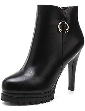 KPHY-Las chicas nuevas botas de invierno la cabeza de agua perforación Zip Water-Side botas botas de terciopelo...