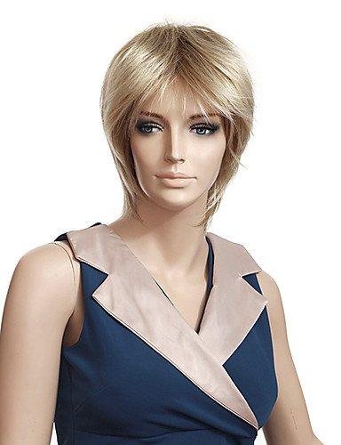 Fashion wigstyle kappenlosem hochwertigem Synthetik gerade kurz Blond Perücken auf Verkauf billige