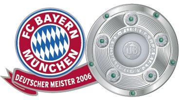FC Bayern München - Pin Deutscher Meister (2006) (Deutschland 2006 Fussball Ball)