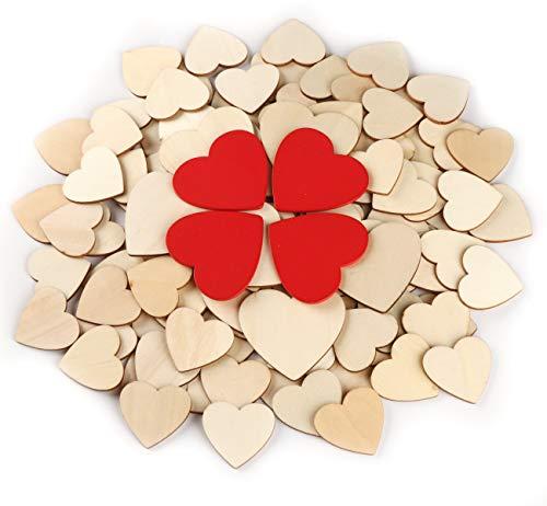 134 Piezas Corazón Madera Rebanadas Madera Adornos