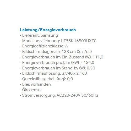 Samsung UE55KU6509 138 cm(55 Zoll) 4k Fernseher - 3