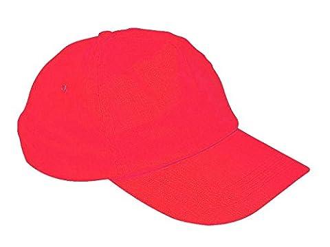 CHILDRENS KIDS BASEBALL CAP HAT BOYS GIRLS (Red) MFAZ Morefaz Ltd