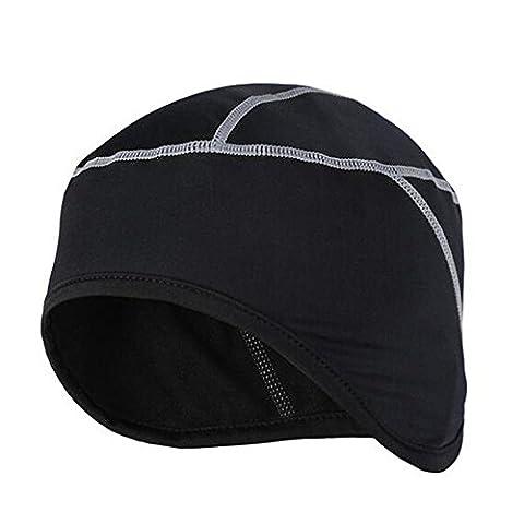 West Radfahren Bike Kopfbedeckung Thermo Rad Skull Cap Helm Liner Fahrrad Fleece Mütze für Winter grau grau Free Size
