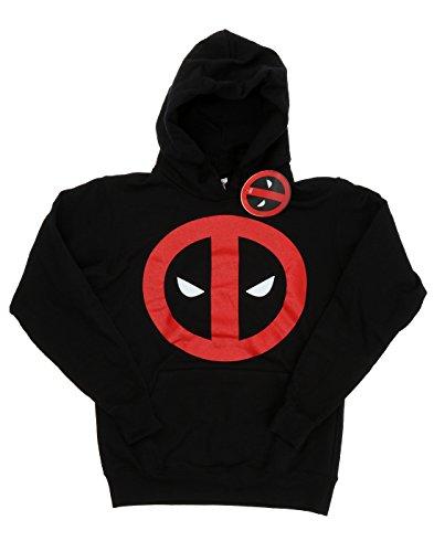 Marvel Donna Deadpool Clean Logo Felpa con cappuccio X-Small Nero