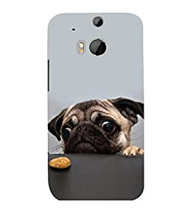 printtech Cute Dog Food Back Case Cover for HTC One M8::HTC M8