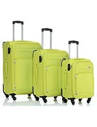 8005 de 3 4 ruedas maleta conjunto de equipaje maleta con ruedas Bolsa de viaje equipaje maleta Set en 5 colores