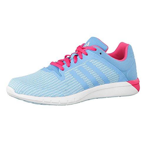 adidas Clima 2 scarpa bambino corsa cool Fresh Blu (frozen blue f15/bright cyan/solar yellow)