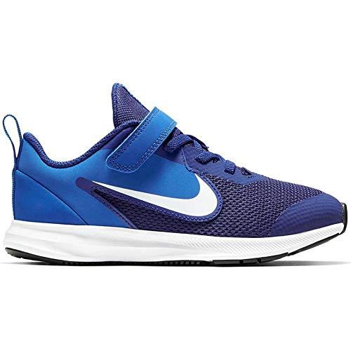 Nike Unisex-Kinder Downshifter 9 (PSV) Leichtathletikschuhe, Mehrfarbig (Deep Blue/White/Game Royal/Black 000), 30 EU