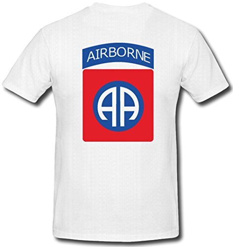 82nd Airborne Division USA Wappen Luftlandedivision Guard of Honor - T Shirt #92, Größe:4XL, Farbe:Weiß (T-shirt Airborne 82nd)
