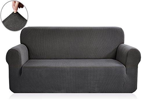 Ebeta Elastisch Sofa Überwürfe Sofabezug, Stretch Sofahusse Sofa Abdeckung Hussen für Sofa, Couch, Sessel 3 Sitzer (Dunkelgrau, 185-235 cm)