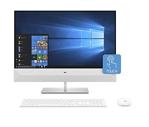 HP Pavilion 27-xa0224ng (27 Zoll / QHD Touch) All-in-One PC (Intel Core i7-9700T, 16GB DDR4 RAM, 1TB HDD, 512GB SSD, Nvidia GeForce MX230 2GB GDDR5, W10) weiß