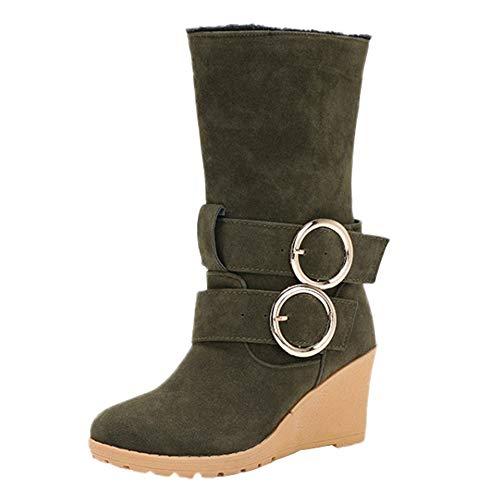 Bottes de Neige,Subfamily Femme Bottes Chaud Courts Bottines Haut Talon Hiver Chaussures Bottes Snow Boot Chaussures à Semelles compensées