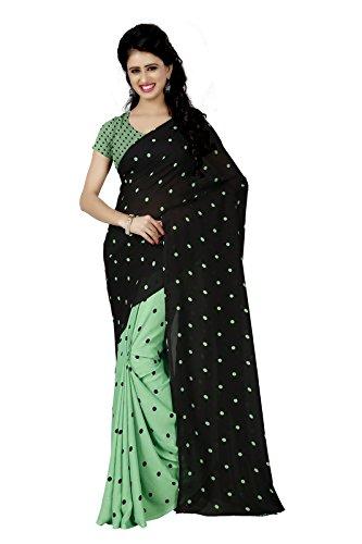 Kashvi sarees Women's Faux Georgette Saree With Blouse Piece (Mnp_1262_2, Multicolor, Free...