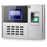 KKmoon biométrique d'empreintes digitales Password Machine de présence employés enregistrement Recorder 2,8 pouces TFT LCD DC 5 V présence de temps Clock