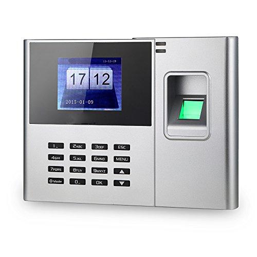 KKmoon Biometrischer Fingerabdruck Passwort Anwesenheits Maschine, Mitarbeiter Check-in Recorder, 2.8 Zoll TFT LCD Schirm, DC 5V Zeiterfassung Uhr