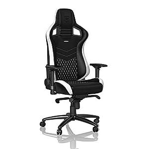 noblechairs EPIC Gaming Stuhl - Bürostuhl - Schreibtischstuhl - Echtleder - Schwarz/Weiß/Rot
