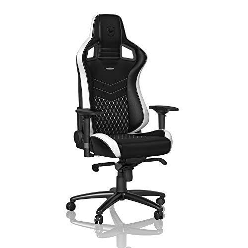 noblechairs EPIC Gamingstuhl - Bürostuhl - Schreibtischstuhl - Echtleder - Schwarz/Weiß/Rot -