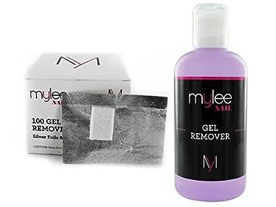 Mylee Gel Remover + Foil Wraps UV LED Kit Nail Gel Soak Off NEW Manicure Salon Beauty by Just Beauty