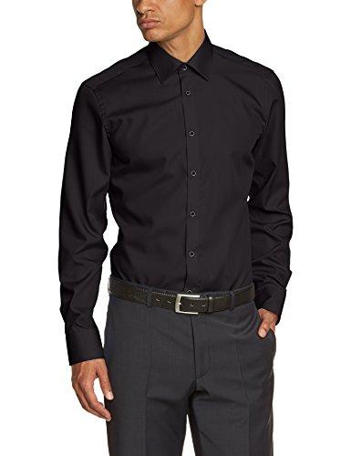 Venti - Camicia Classico, Uomo Nero (Schwarz)