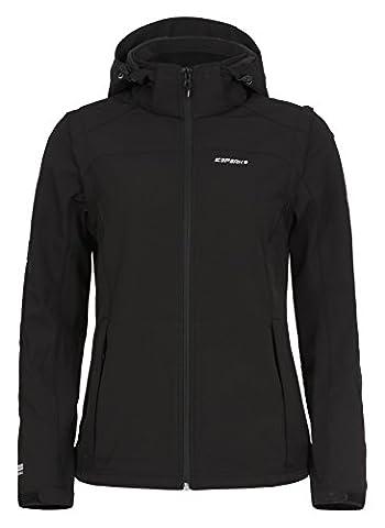 ICEPEAK Damen Softshell Jacket Leonie, Black, 38,