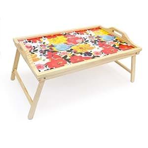 Plateau pour petit-déjeuner au lit Table de lit bambou pliant