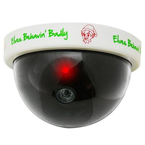 Weihnachtselfen-Gefälschte Blinde Sicherheits-Überwachungskamera-Blinkendes Rotes Geführtes Licht Für Realismus-Weihnachtsstütze Erhalten Ihre Kinder, Sich Uber Der Festlichen Periode Zu Benehmen