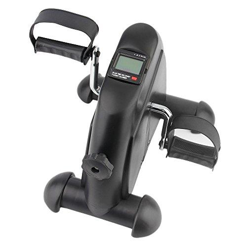 OUTAD Mini-Bike Heimtrainer Arm und Beintrainer Pedaltrainer Bewegungstrainer mit Trainingscomputer für Erwachsene und Senioren (Schwarz)