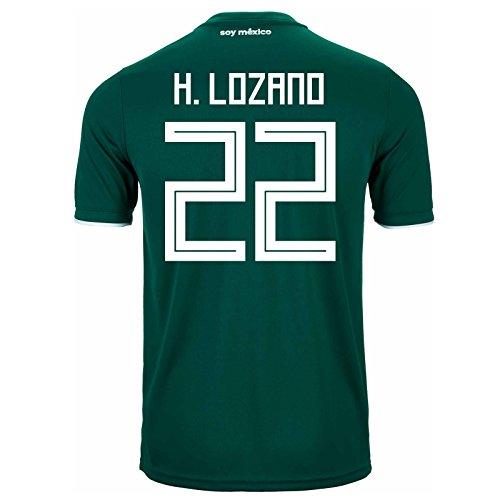 Adidas H. Lozano #22 - Camiseta de fútbol para Hombre, diseño de la Copa del Mundo de Rusia 2018...
