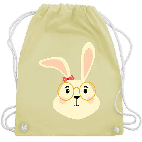 �ßer Hase mit Brille und Band - Unisize - Pastell Gelb - WM110 - Turnbeutel & Gym Bag ()