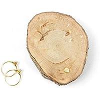 Coussin d'alliances, présentoir à alliances, porte alliances, boîte à alliances en bois pour mariage sur le thème nature, champêtre