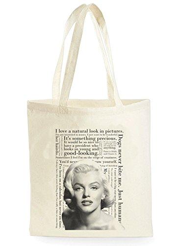 Marilyn Monroe Quotes, Einkaufstasche fürs Einkaufen, Picknick, Zuhause, Lagerung und Schule, tote bag