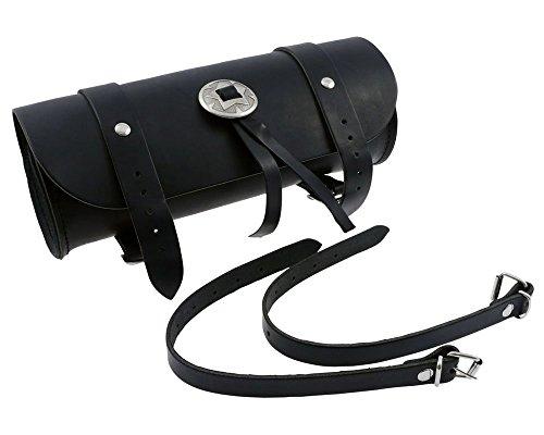 Werkzeugrolle Werkzeugtasche High Quality, 1 Concho, Leder, Motorrad, Chopper