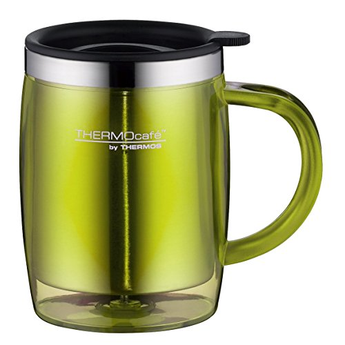 ThermoCafé by Thermos 4059.277.035 Tasse Desktop Mug, 0.35 L, Kunststoff, lime grün