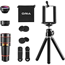 【2019 New】ORIA 3 en 1 Kit de Teléfono Lente de Cámara, Lente